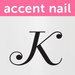 Accent Nail Initial K (Transparente)