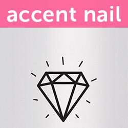 Accent Nail Princess Cut (Transparente)
