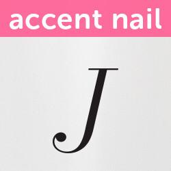 Accent Nail Initial J (Transparente)