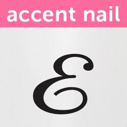 Accent Nail Initial E (Transparente)