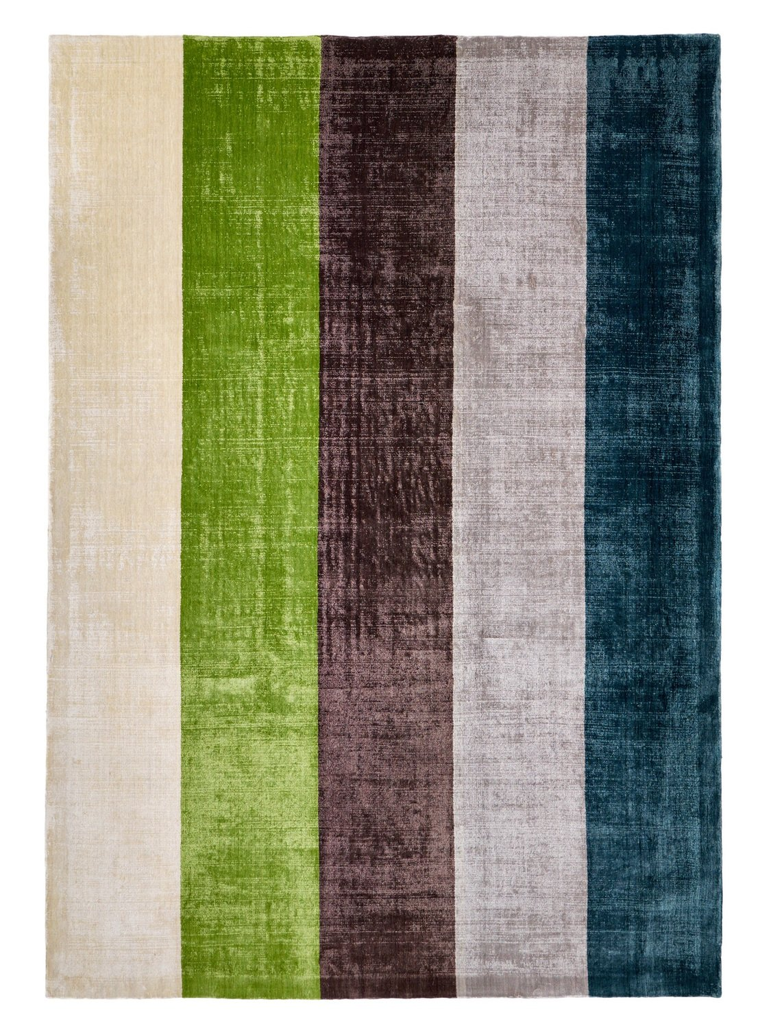 Indian Cut loop stripe design in Viscose size 240 x 170 Final Reduction