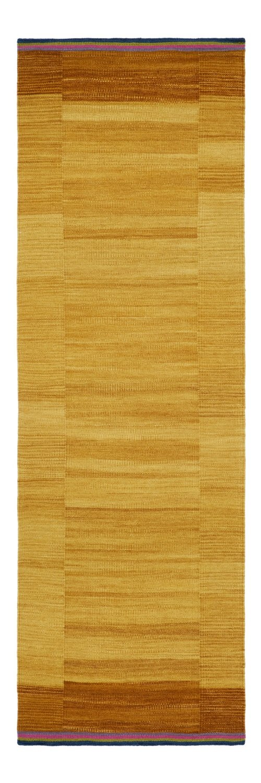Indian Kelim Tonal Ochre size 240 x 80 Final Reduction