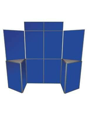 10 Panel Folding Kit with 2 x Headers & 2 Triangular Table Tops