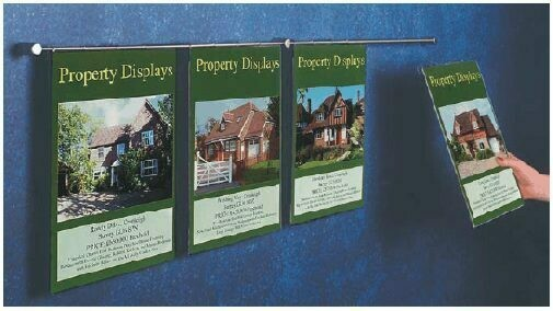 Wall Kit Property Display 4 x A4 Portrait