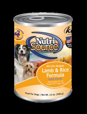 Nutri Source Lamb and Rice 13oz