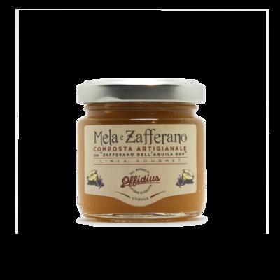 Composta artigianale mele e zafferano 110g. senza glutine e lattosio
