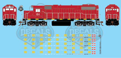 Modern Locomotive Underframe Details HO Scale Decal Set
