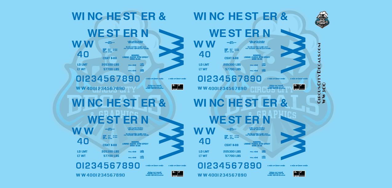 Winchester & Western Railroad 2 Bay Covered Hopper O Scale