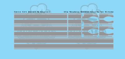 Seminole Stripes 1:64 Scale Gray/Silver Pinstripe