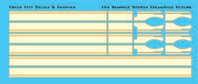 Seminole Stripes 1:64 Scale Cream/Gold Pinstripe