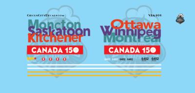 VIA Canada 150 F40 N Scale 6402