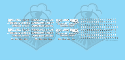 Ringling Bros. & Barnum Bailey Circus RBBB Wagon Decals N Scale