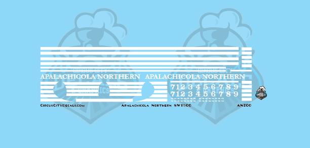 Apalachicola Northern Railroad SW1500 HO Scale