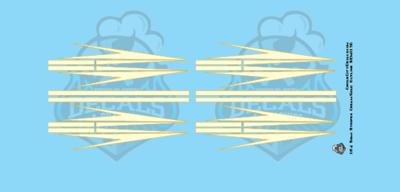 Semi Graphic Stripe Cream/Gold Outline 1:64 Scale