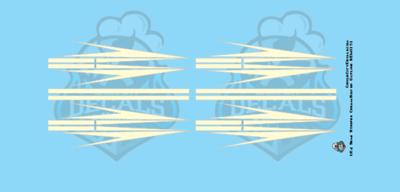 Semi Graphic Stripe Cream/Silver Outline 1:64 Scale