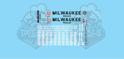 Milwaukee Road SD10 MILW N Scale Decal Set