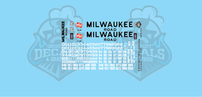 Milwaukee Road GP20 MILW HO Scale Decal Set
