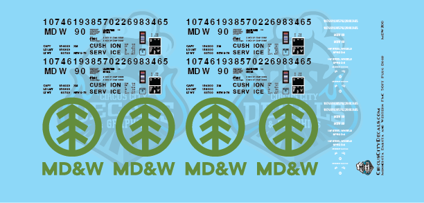 Minnesota Dakota & Western 50ft FMC Plug Door Boxcar HO Scale Decal Set