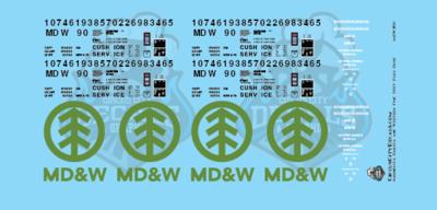 Minnesota Dakota & Western 50ft FMC Plug Door Boxcar HO Scale Decal Set
