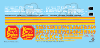 Kansas City Southern Trinity Hopper S scale