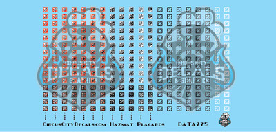 Hazmat Placards HO Scale Decal Set