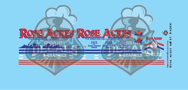 Rose Acres MP15AC HO Scale Decal Set