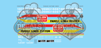 Seaboard Coast Line Family Lines System Caboose Lettering O Scale Decal Set