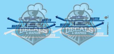 Marten Transport Kenworth & 53' Trailer N Scale Decal Set