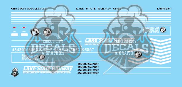 Lake State Railway GP/SD Locomotive Decals HO Scale