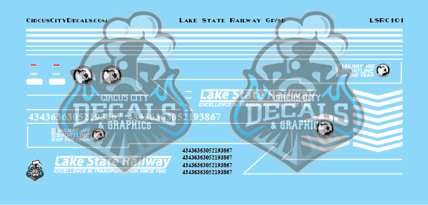Lake State Railway GP/SD Locomotive Decals N Scale