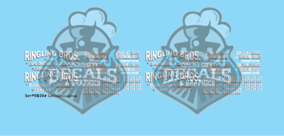 Ringling Bros. & Barnum Bailey Circus RBBB Truck Decals HO Scale