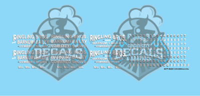Ringling Bros. & Barnum Bailey Circus RBBB Wagon Decals HO Scale