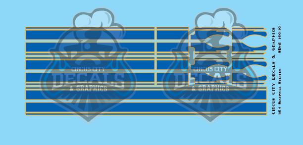Seminole Stripe Blue/Gold Outline 1:160 Scale