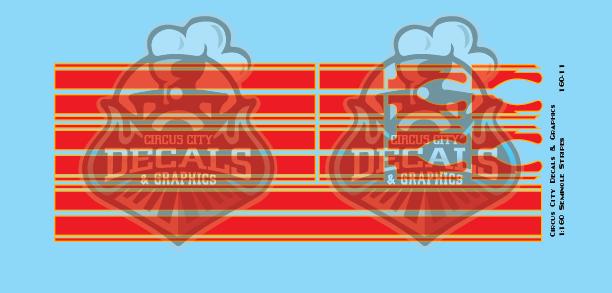 Seminole Stripe Red/Gold Outline 1:160 Scale