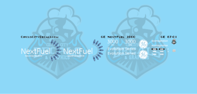 GE NextFuel LNG ES44AC 3000 HO Scale Decal Set
