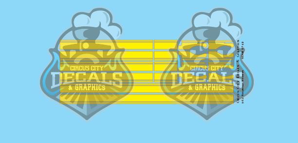 Seminole Stripe Yellow/Gold Outline 1:87 Scale