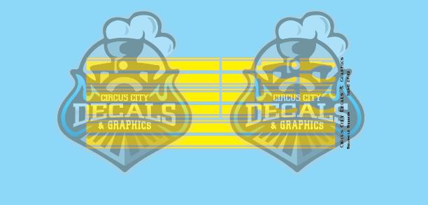 Seminole Stripe Yellow/Silver Outline 1:87 Scale
