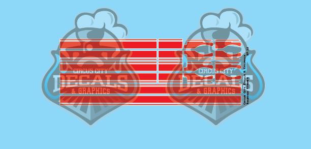 Seminole Stripe Red/White Pinstripe 1:87 Scale