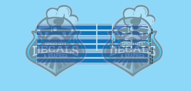 Seminole Stripe Blue/White Pinstripe 1:87 Scale