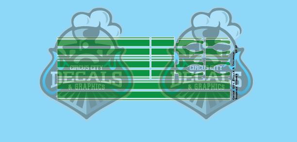 Seminole Stripe Green/White Pinstripe 1:87 Scale