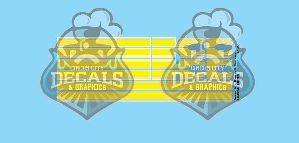 Seminole Stripe Yellow/White Pinstripe 1:87 Scale