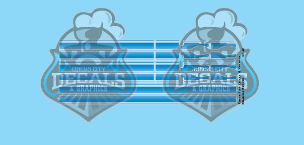 Seminole Stripe Blue Fade/White Pinstripe 1:87 Scale