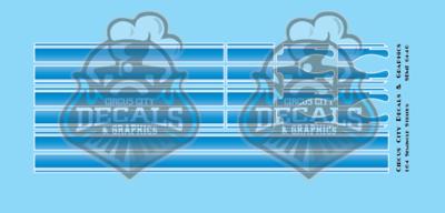 Seminole Stripe Blue Fade/White Pinstripe 1:64 Scale