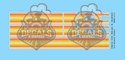 Seminole Stripe Red-Orange Fade/White Pinstripe 1:64 Scale
