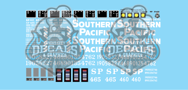 SP Southern Pacific Caboose C 50 5 7 8 9 G Scale Decals