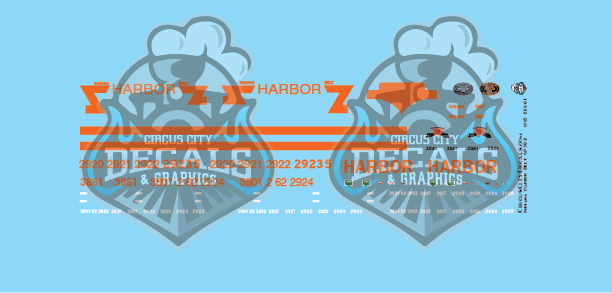 Indiana Harbor Belt GP38-2 SD20 SD38-2 Z Scale Decal Set
