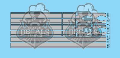 Seminole Stripe Silver/Black Pinstripe 1:64 Scale