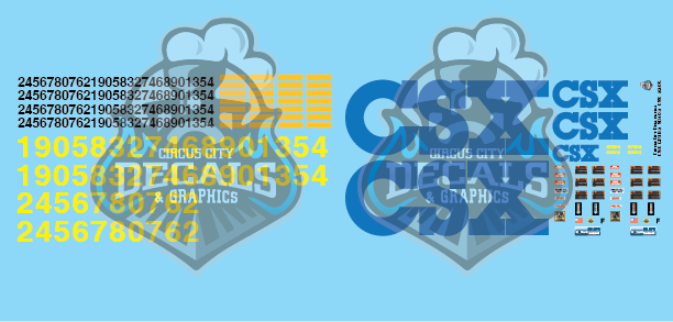CSX USAT GP38-2 SD40-2 Yn2 G Scale Decal Set