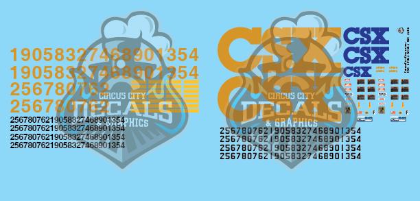 CSX USAT GP38-2 SD40-2 Yn3 G Scale Decal Set