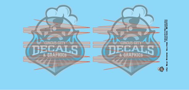Semi Graphic Stripe Gray/Red Outline 1:64 Scale